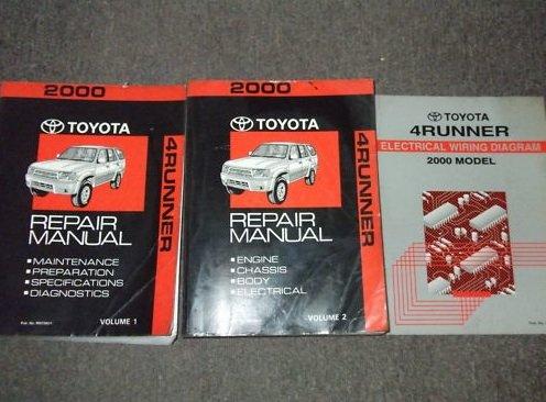2000 Toyota 4Runner Service Shop Repair Manual Set OEM ...