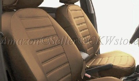 A40 Toyota 4Runner Luxury Deluxe PU Soft Synthetic Genuine Leather Seat Covers Triple Stitched Airbag Safe Armrest Compatible 2 Front Bucket
