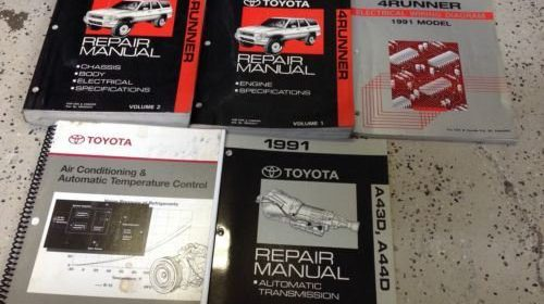 1991 Toyota 4runner Service Shop Repair Manual Set Oem W Ewd Features Trans Bk