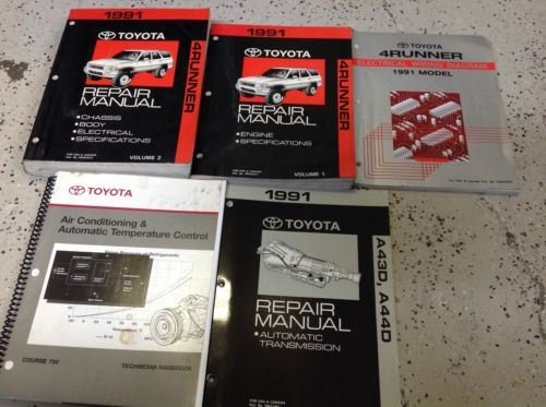 1991 Toyota 4runner Service Shop Repair Manual Set Oem W